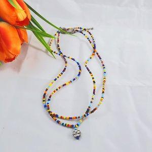 Avon vintage beaded double strand necklace